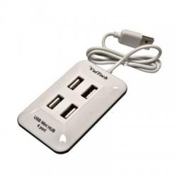 Hub 4 Porte USB Vultech HU-01 - USB 2.0 - Bianco
