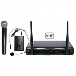 RADIOMICROFONO DOPPIO VHF (SET 6082PL-A)