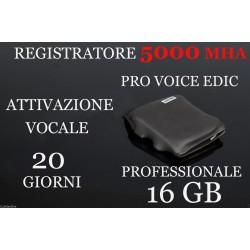 MICRO REGISTRATORE VOCALE 16 GB SPY SPIA VOICE RECORDER AMBIENTALE USB