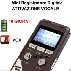 MICRO REGISTRATORE VOCALE 8 GB SPY SPIA VOICE RECORDER digital AMBIENTALE USB