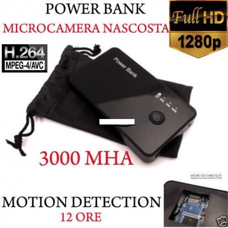Spy Camera Spia HD MOTION DETECTION TELECAMERA NASCOSTA POWER BANK MICRO CAMERA
