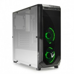 CASE GAMING BLACKDOOM GS-0385GR - VENTOLE VERDI - NO ALIMENTATORE