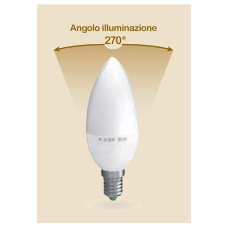LAMPADA LED CANDELA E14 6W CALDA 3000K (E2546C)