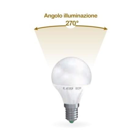 LAMPADA LED SFERA E14 6W CALDA 3000K (E2560C)