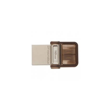 PEN DRIVE 16GB DUO USB 3.0 OTG (DTDUO3/16GB) MARRONE