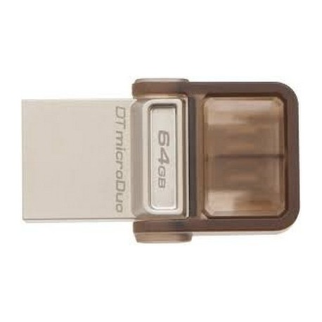 PEN DRIVE 64GB DUO USB OTG (DTDUO/64GB) MARRONE