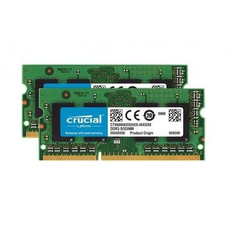 MEMORIA SO-DDR3 8 GB PC1066 MHZ KIT (2X4) (CT2C4G3S1067MCEU)