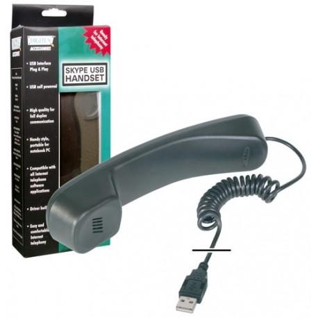 CORNETTA TELEFONICA USB X USO VOIP E SKYPE (DA-70772)