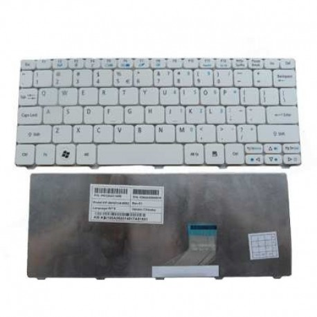 TASTIERA PER NOTEBOOK ACER 532H BIANCA (KXZAH79) NSK-AS20E