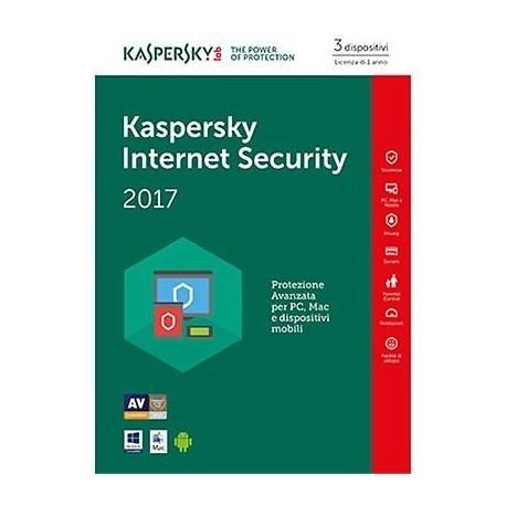 SOFTWARE INTERNET SECURITY 2017 3 CLNT (KL1941TBCFS-7SLIM)