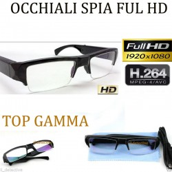 Telecamera spia occhiali full hd microcamera nascosta microspia