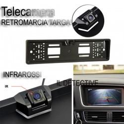 Porta targa con telecamera Retromarcia Auto Retrocamera 170 ° Visione Nottura