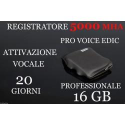 MICRO REGISTRATORE VOCALE 16 GB SPY SPIA VOICE RECORDER AMBIENTALE 20 GIORNI!
