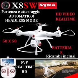 DRONE SYMA X8 SW FPW WIFI BLOCCO ALTEZZA BATTERIA E RICAMBI
