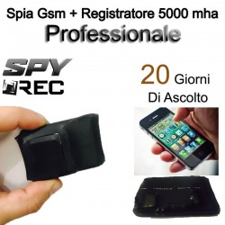MICRO REGISTRATORE VOCALE SPIA GSM SPY SPIA MICROSPIA AMBIENTALE AUDIO