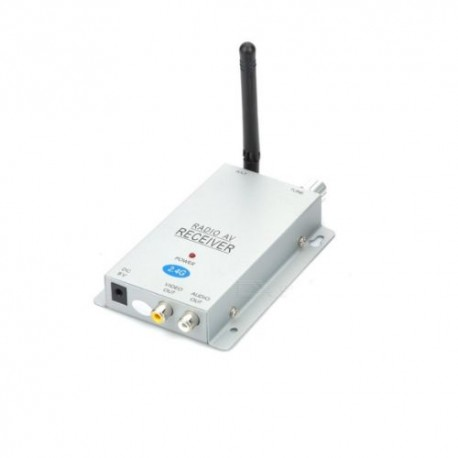 Ricevitore wireless 2,4Ghz 4 canali uscita AV per telecamera