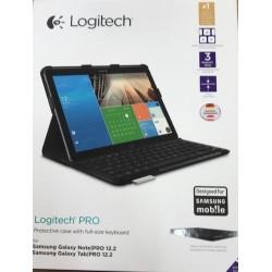 Logitech Pro Custodia con Tastiera per Samsung Galaxy NotePro 12.2 QWERTZ