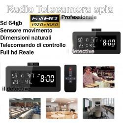 Telecamera spia Radio con microcamera nascosta full hd