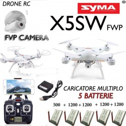 Drone SYMA X5SW RADIOCOMANDATO FPV REALTIME HEADLESS COMBO REAL TIME WiFi