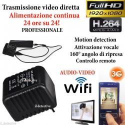Spy Camera Spia WIFI HD ALIMENTATORE TELECAMERA MICRO NASCOSTA MICROCAMERA