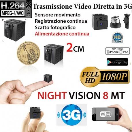 Micro telecamera spia infrarossi Wifi Wireless visione nottuna microcamera mini