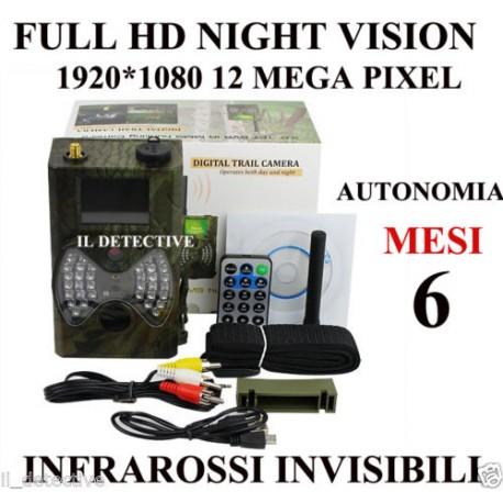 Telecamera spia per esterni microcamera infrarossi fototrappola trail camera spy