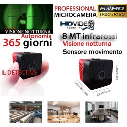 Spy Camera Spia MICRO FULL HD INFRAROSSI TELECAMERA NASCOSTA MICROCAMERA