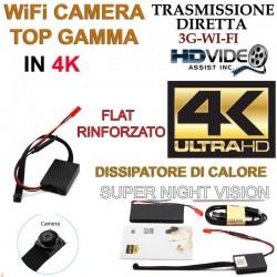 Spy Camera Spia WIFI HD CON DISSIPATORE 4K TELECAMERA MICRO NASCOSTA MICROCAMERA