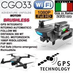 DRONE CG033 PRO REALTIME FPV WIFI GPS HEADLESS RITORNO AUTOMATICO FULL HD