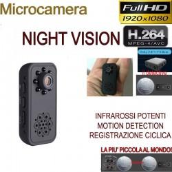 Micro telecamera spia visione notturna infrarossi HD camera spycam