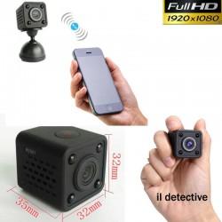 Telecamera spia Wifi 3g 4g p2p infrarossi microcamera mini nascosta p2p wireless