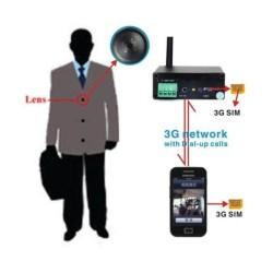 Telecamera Umts 3G Bottone Spy Videochiamata Spionaggio Investigazione