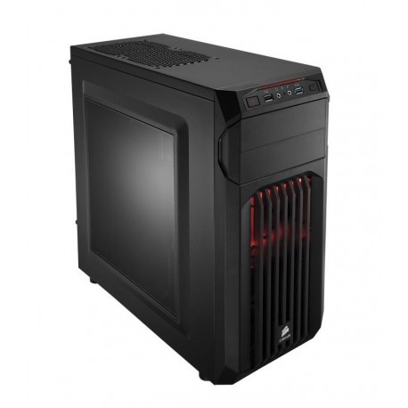 CASE GAMING CARBIDE SPEC-01 (CC-9011050-WW) LED ROSSO