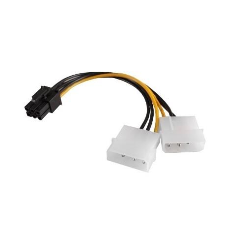 CAVO ADATTATORE ALIMENTAZIONE MOLEX PCI-E (SC10903)