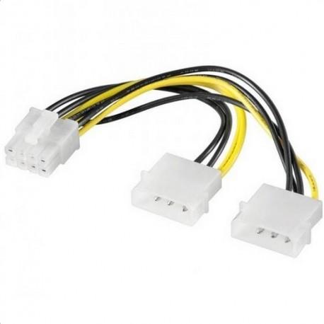 CAVO PROLUNGA ALIMENTAZIONE MOLEX A 8 PIN PCI-E (E10058)