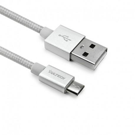 CAVO SMARTPHONE MICRO USB IN NYLON 1 MT - BIANCO