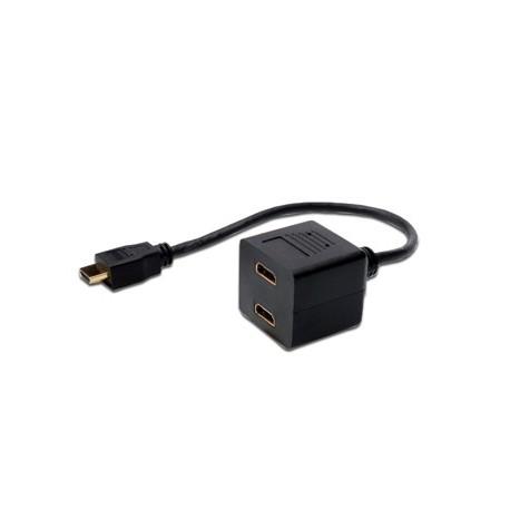 CAVO SPLITTER HDMI CON 1 CON MASCHIO E 2 FEMMINA HDMI (AK508001)