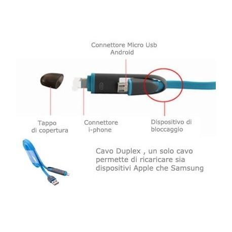 CAVO TC 122 IBRIDO APPLE/MICRO USB 1MT
